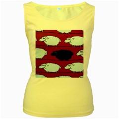 Sheep Women s Yellow Tank Top