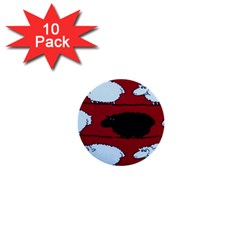 Sheep 1  Mini Buttons (10 Pack)