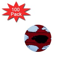 Sheep 1  Mini Buttons (100 pack)