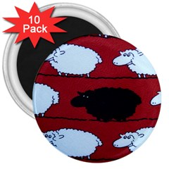 Sheep 3  Magnets (10 Pack)