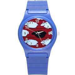 Sheep Round Plastic Sport Watch (s)
