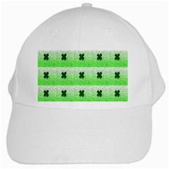 Shamrock Pattern White Cap