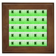 Shamrock Pattern Framed Tiles