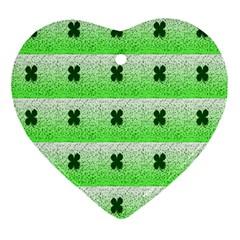 Shamrock Pattern Ornament (Heart)