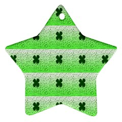 Shamrock Pattern Ornament (Star)