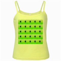 Shamrock Pattern Yellow Spaghetti Tank