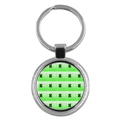 Shamrock Pattern Key Chains (Round)