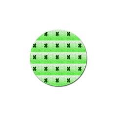 Shamrock Pattern Golf Ball Marker