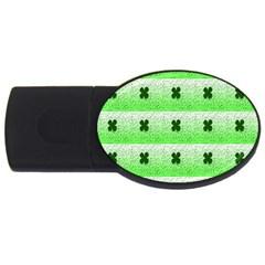 Shamrock Pattern USB Flash Drive Oval (2 GB)