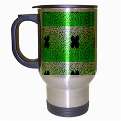 Shamrock Pattern Travel Mug (silver Gray)