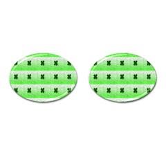 Shamrock Pattern Cufflinks (Oval)