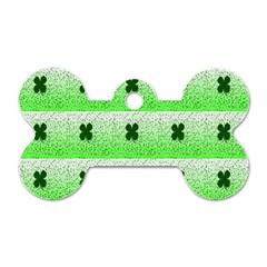 Shamrock Pattern Dog Tag Bone (One Side)