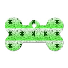 Shamrock Pattern Dog Tag Bone (two Sides)