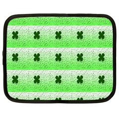 Shamrock Pattern Netbook Case (Large)