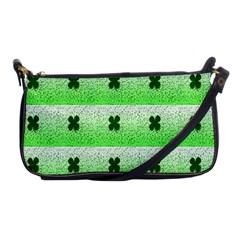 Shamrock Pattern Shoulder Clutch Bags