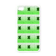 Shamrock Pattern Apple Iphone 4 Case (white)