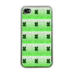 Shamrock Pattern Apple Iphone 4 Case (clear)