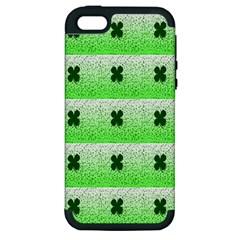 Shamrock Pattern Apple iPhone 5 Hardshell Case (PC+Silicone)