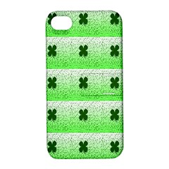 Shamrock Pattern Apple iPhone 4/4S Hardshell Case with Stand
