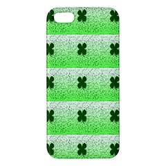 Shamrock Pattern Apple iPhone 5 Premium Hardshell Case
