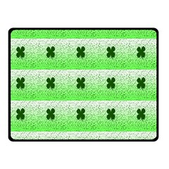 Shamrock Pattern Double Sided Fleece Blanket (small)