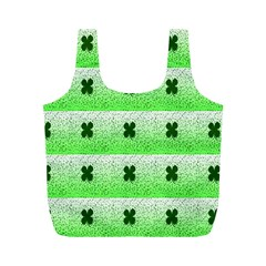 Shamrock Pattern Full Print Recycle Bags (m)