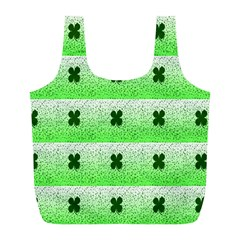 Shamrock Pattern Full Print Recycle Bags (l)