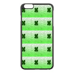 Shamrock Pattern Apple Iphone 6 Plus/6s Plus Black Enamel Case