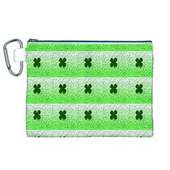 Shamrock Pattern Canvas Cosmetic Bag (XL)