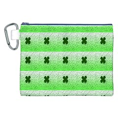 Shamrock Pattern Canvas Cosmetic Bag (XXL)