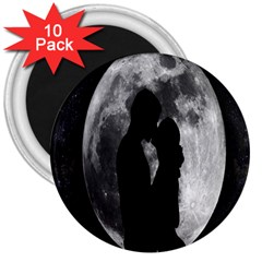 Silhouette Of Lovers 3  Magnets (10 pack)