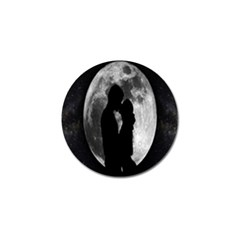 Silhouette Of Lovers Golf Ball Marker