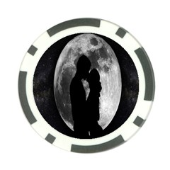 Silhouette Of Lovers Poker Chip Card Guard