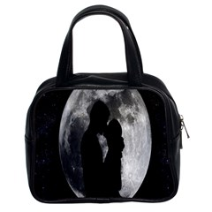 Silhouette Of Lovers Classic Handbags (2 Sides)