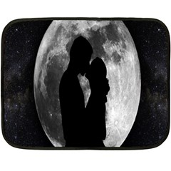Silhouette Of Lovers Fleece Blanket (mini)