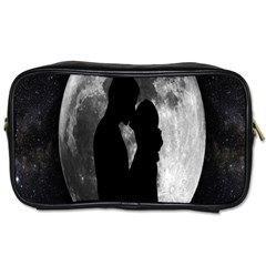 Silhouette Of Lovers Toiletries Bags 2 Side