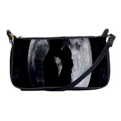 Silhouette Of Lovers Shoulder Clutch Bags