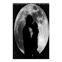 Silhouette Of Lovers Shower Curtain 48  x 72  (Small)