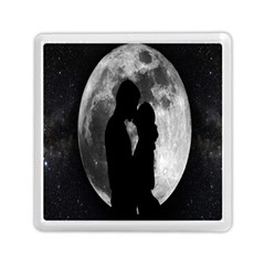 Silhouette Of Lovers Memory Card Reader (Square)