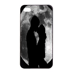 Silhouette Of Lovers Apple iPhone 4/4s Seamless Case (Black)