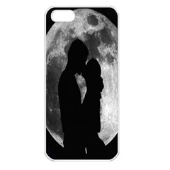 Silhouette Of Lovers Apple iPhone 5 Seamless Case (White)
