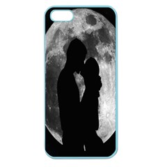 Silhouette Of Lovers Apple Seamless Iphone 5 Case (color)