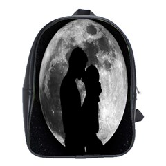 Silhouette Of Lovers School Bags (xl)