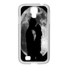 Silhouette Of Lovers Samsung Galaxy S4 I9500/ I9505 Case (white)