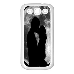 Silhouette Of Lovers Samsung Galaxy S3 Back Case (White)
