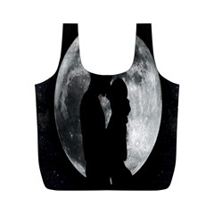 Silhouette Of Lovers Full Print Recycle Bags (m)