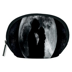 Silhouette Of Lovers Accessory Pouches (medium)