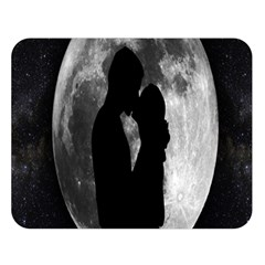 Silhouette Of Lovers Double Sided Flano Blanket (large)
