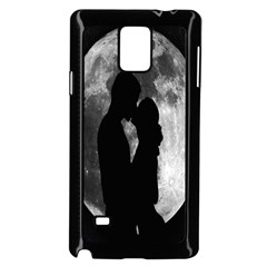 Silhouette Of Lovers Samsung Galaxy Note 4 Case (Black)