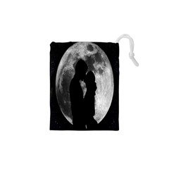 Silhouette Of Lovers Drawstring Pouches (XS)